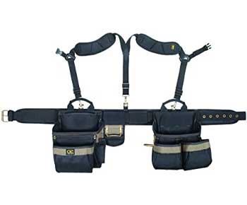 CLC Custom Leathercraft 1614 20 Pocket, Heavy Duty Framers 5 Piece Comfortlift Combo Tool Belt