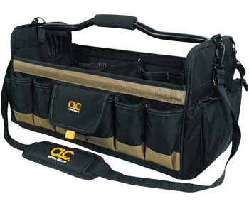 CLC-Custom-Leathercraft-1579-20-Inch,-Open-Top,-Soft-Sided-Tool-Box,-27-Pockets